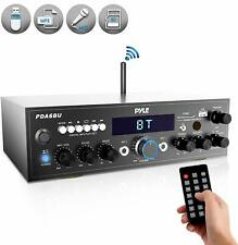 Wireless Bluetooth Power Amplifier System - 200W Dual Channel Sound Audio Stereo