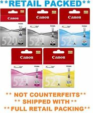 Canon Genuine Ink Pixma Set PGI-520BK CLI-521 BK C M Y