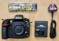 Nikon D810 36.3MP Digital SLR Camera - Black (Body Only) 26k Shutter Count