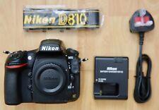 Fotocamera Reflex Digitale Nikon D810 36.3MP - Nero (Solo Corpo) 48k conteggio dell'otturatore