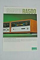 SANSUI RA500 REVERBERATION AMPLIFER ~ PRODUCT SALES CATALOG REVIEW SPEC SHEET