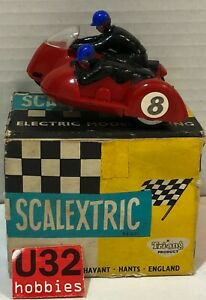Scalextric B1 Motor Cycle Typhoon Racing Typo 2 #8 With Wheel Front