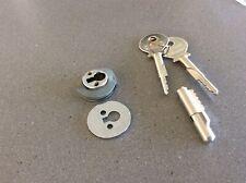 6 Hafele Chrome Sliding Glass Door Showcase locks keyed alike