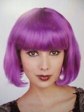 Short Purple Bob Costume Wig w/ Bangs Hit-Girl Mindy McCready Comic Con Kick A$$
