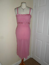 NEW House of Fraser 100% Silk Wedding Evening Sequin Dress Sz UK 10 EU 38 Pink
