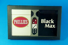 Phillies Black Max Cigars Double Deck Sealed Playing Cards & Dice Original Box