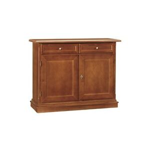 Cupboard With 2 Doors And 2 Drawers, Walnut Dark (384)