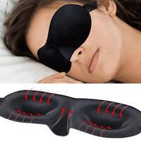 3D& Hochwertige Schlafbrille Augenmaske Schlafmaske Augenbinde Reise Schwarz