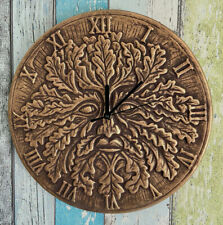 30cm Large Terracotta Green Man Clock by Lisa Parker - Witchraft/Wicca/Pagan