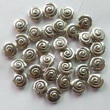 30Pcs Carved Tibet silver Snail Pendant Bead 13x6mm ZN-26400