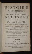 Histoire anatomique des parties génitales de l'homme et de la femme, qui