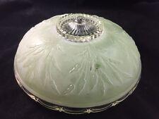Vintage Art Deco / Nouveau Satin Glass Ceiling Light Chandelier Shade 1 of 3