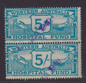 Western Australia. 5/- pair. Hospital Fund stamps.