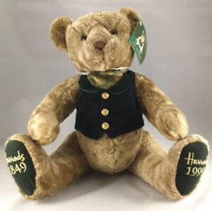 "Vintage Harrod's Knightsbridge 150th Anniversary 1849-1999 Bear Stuffed 18"""