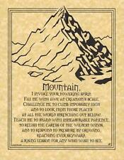 Mountain Prayer Parchment Page for Book of Shadows, Altar!