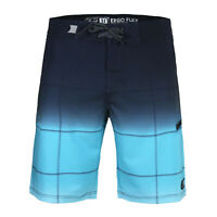 Men's Check Beach Vacation Swim Trunks Zip Pocket Swimwear Board Shorts Blue