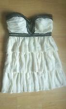Ivory & Black Strapless Short Party Dress by Pixie Lott at Lipsy Size 10