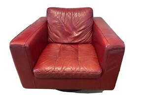 Natuzzi Red Armchair