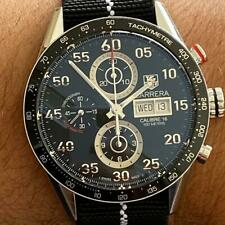 UNPOLISHED TAG HEUER CARRERA CALIBRE 16 CHRONOGRAPH DAY DATE 44 MM WATCH CV2A10