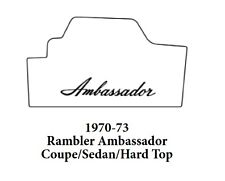 1970 1973 AMC Cpe / Sdn Hardtop Trunk Rubber Floor Mat Cover w/ A-003 Ambassador
