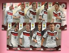 PANINI WORLD CUP PRIZM 2014 - DEUTSCHLAND 9 CARDS - EXCELLENT/VERY GOOD