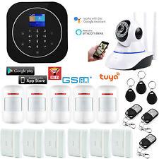 T85 WIFI APP GSM RFID Wireless Tuya Home Security Alarm Burglar System+IP Camera