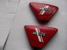 CACHE LATERAL DROIT ET GAUCHE ROUGE  MOTO LAVERDA 125 LZ