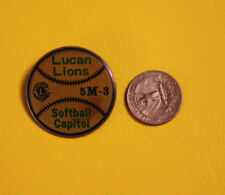 Vintage Lions Club Pin Pinback Lucan Minnesota Softball Capitol