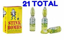 Prank Glass Stink Bombs - Horrible Rotten Egg Smell  (21 VIALS - 7 BOXES of 3 )