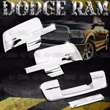 For 09-12 Dodge Ram Chrome Side Mirror Tailgate Handle Cover Combo Overlay Trim