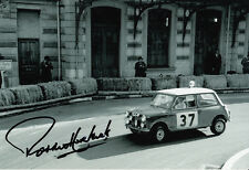 Paddy Hopkirk Hand Signed Mini Cooper Photo 12x8 3.