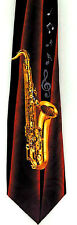Gold Sax on Red and Black Tie