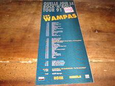 LES WAMPAS - PUBLICITE DATES TOURNEE 1991 !!!!!!!
