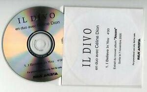IL DIVO & CELINE DION : I BELIEVE IN YOU ▓ X-RARE PROMO CD ▓