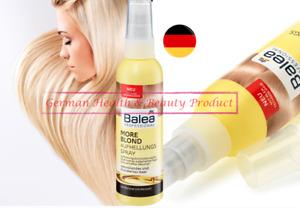 Balea Professional More Blond Hair Brightening Spray More Lightening 5 oz Vegan