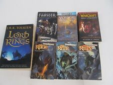 LOT OF 7 - FANTASY NOVELS - LORD OF THE RINGS - FORGOTTEN REALMS - WARMAMMER