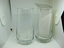 Metaxa 5 Star Greek Spirit Liqueur Engraved Collectible Glasses Cup Set of 2 NEW