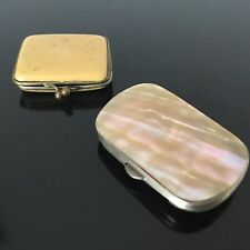 2 Porte Monnaie Anciens 1900 Nacre 2 Victorian French Purses Mother Of Pearl