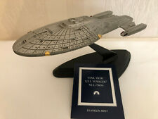 More details for franklin mint pewter star trek voyager the u.s.s. voyager ncc-74656 starship