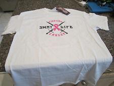 Swat Life - Fighting Cancer T-Shirt - White - Medium
