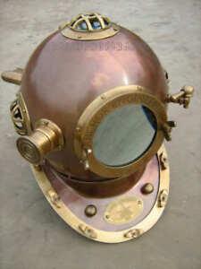"Vintage Germany 1921- 18""Diving Helmet Antique Helmet Made By Anchor Engineering"