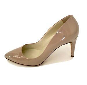 RUPERT SANDERSON UK 8 EU 41 Nude Patent 85 mm Court Shoe Heels