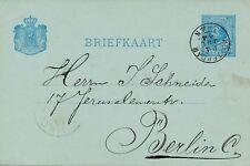 Briefkaart van Rotterdam naar Berlijn (1884)