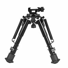 "Tactical Rifle Bipod Adjustable Spring Return w/ 360 Degree Swivel Adapter 9"""