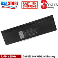 WD52H Battery for Dell Latitude 12 7000 E7240 GVD76 HJ8KP NCVF0 Laptop 45Wh