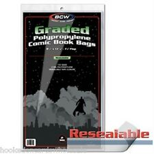 1 pack of 100 BCW Resealable Comic Book Storage Bags Graded Comics 8.5 x 13 7/16