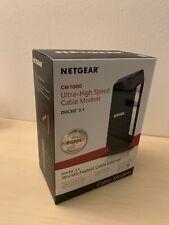 NETGEAR CM1000-100NAS High-Speed Cable Modem - Black