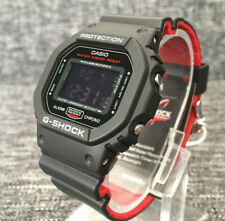 CASIO G SHOCK DW-5600HR-1ER BLACK & RED DIGITAL STOPWATCH TIMER BRAND NEW