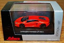 SCHUCO Diecast Lamborghini Aventador LP 700-4 Orange 1/87 HO