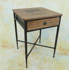 Beistelltisch Nachttisch  Holz Couchtisch Schubalde Tisch E16021-b